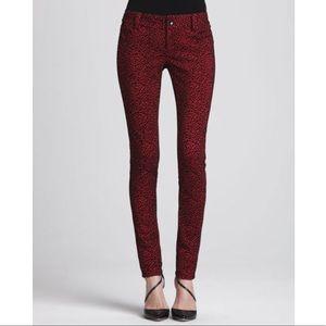 Alice & Olivia Animal Print Skinny Jeans